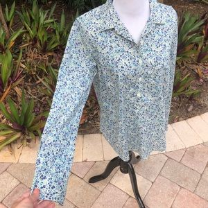 Liberty Woman's Shirt By JCrew Size 6